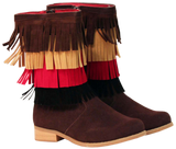 L'Amour Girls G870 Brown Fringe Boots