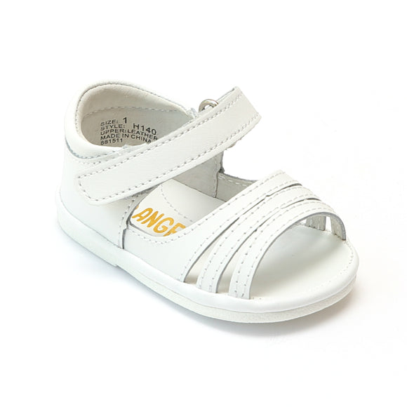 Angel Baby Girls White Strappy Open Toe Sandals - Babychelle.com