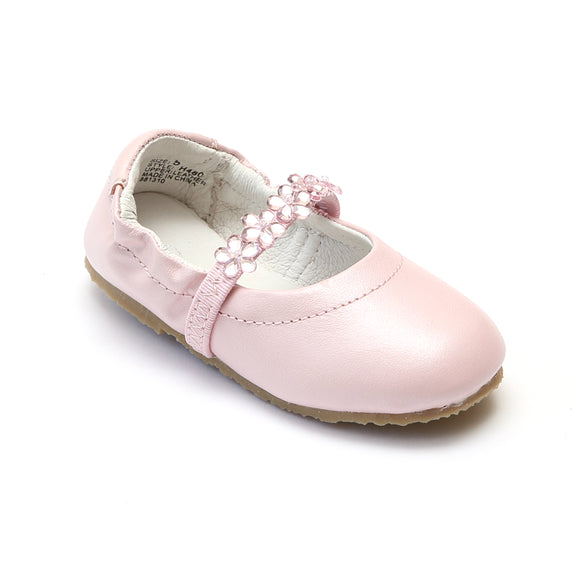 L'Amour Girls H480 Pink Ballet Shoes - Babychelle.com