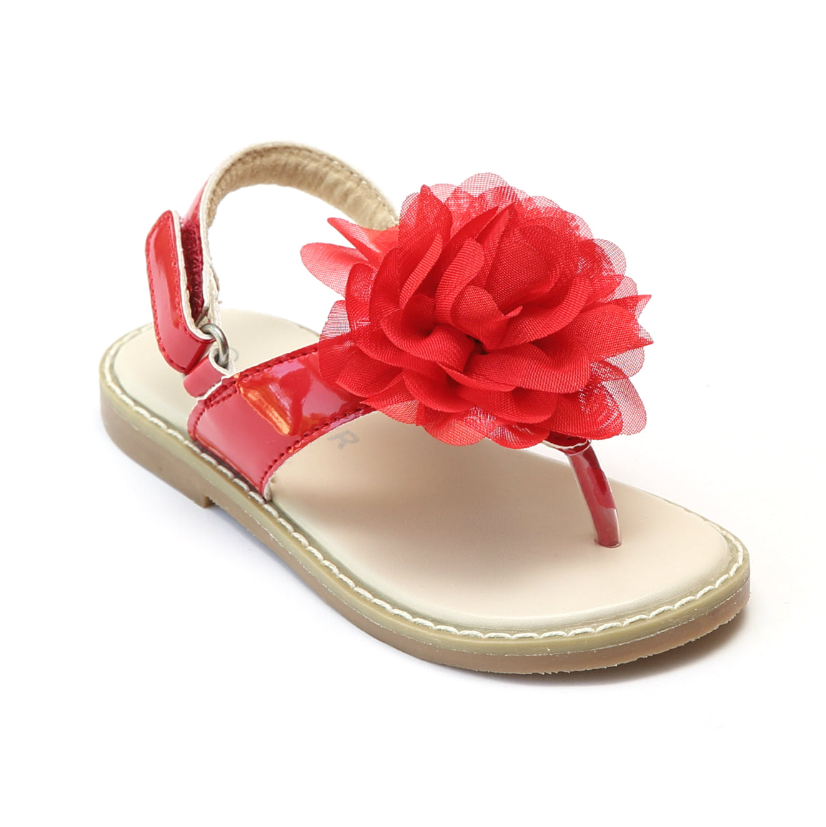 adf521a33f120 L Amour Girls Organza Flower Thong Sandals – Babychelle