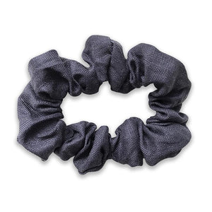Hailey Girls Navy Linen Scrunchie - Babychelle.com
