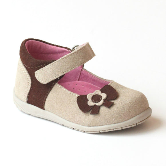 L'Amour Girls Nubuck Cream Fashion Mary Jane