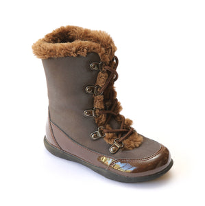 L'Amour Girls Brown Lodge Boots - Babychelle.com