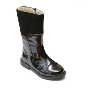 L'Amour Girls Black Below the Knee Fashion Boots - Babychelle.com