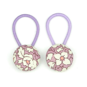 Ali Liberty of London Set of Button Hair Ties In Lilac -Babychelle.com