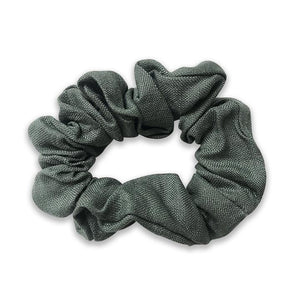 Girls Lois Pine Forest Linen Hair Scrunchie - Babychelle.com