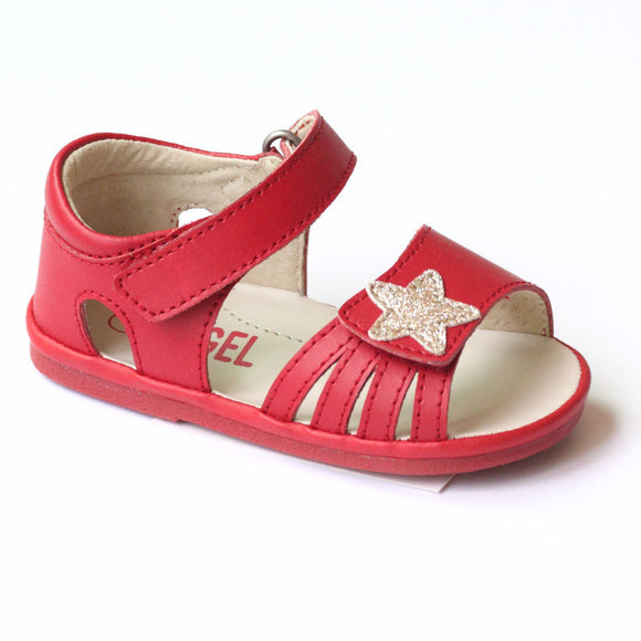 Angel Baby Girls Star Red Sandal
