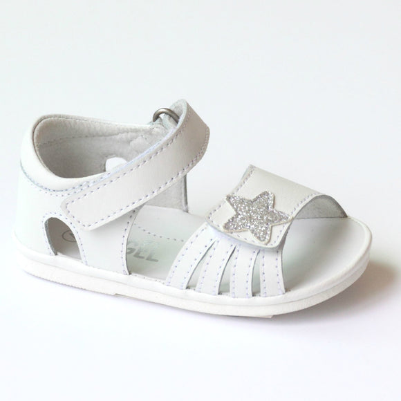 Angel Baby Girls Star White Sandal