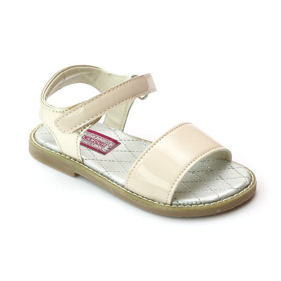 L'Amour Girls Open Toe Strap Leather Sandal