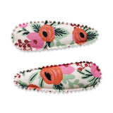 Marni Colorful Red Flower Hair Snap Clip - Rifle Paper Co. - Babychelle.com