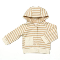 Babymio 100% Organic Cotton Striped Hooded Jacket