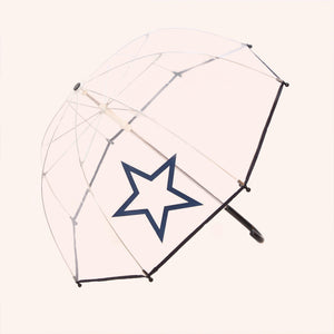 Pluie Pluie Boys R2U - NY Transparent Umbrella with Navy Trim - Babychelle.com