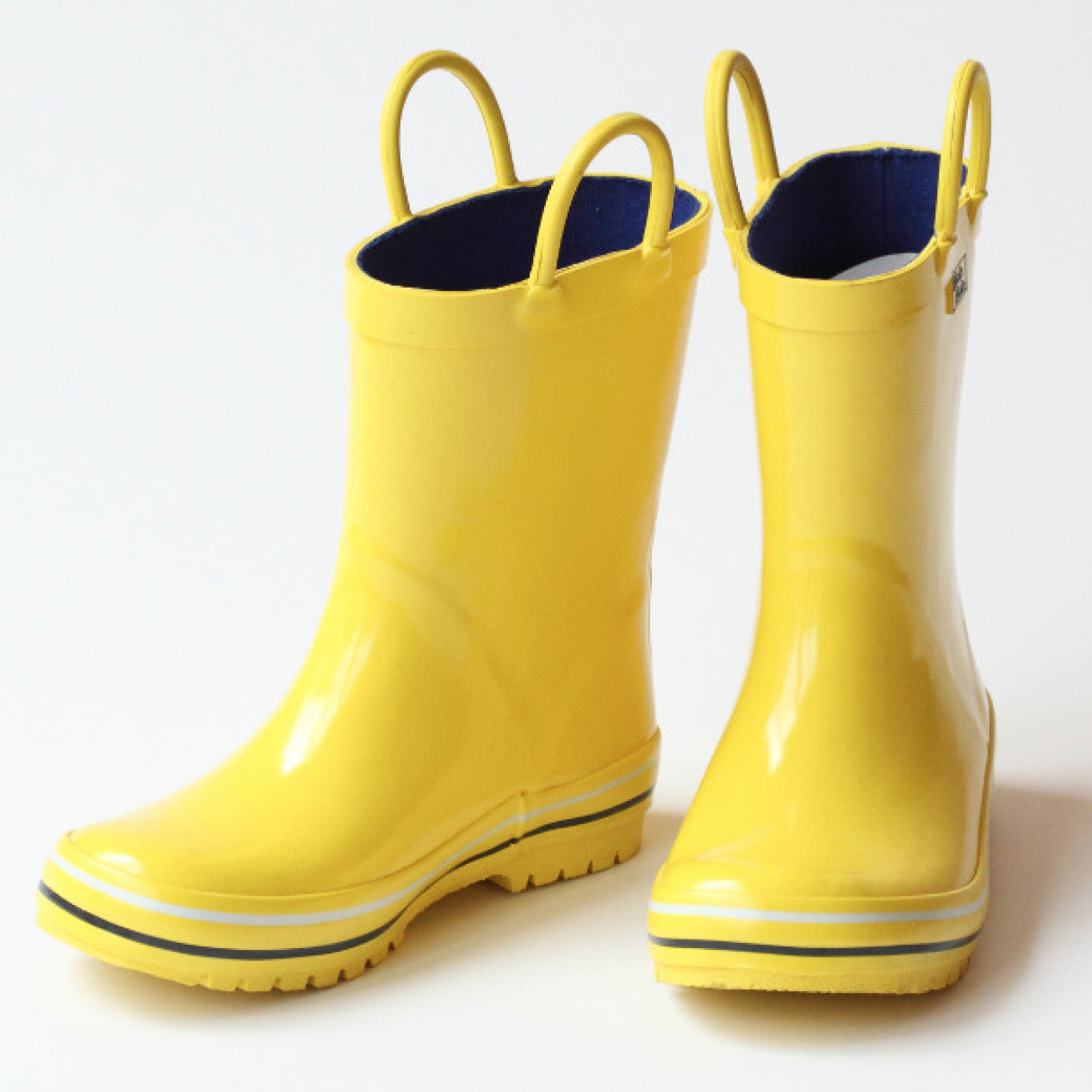Black And Yellow Rain Boots