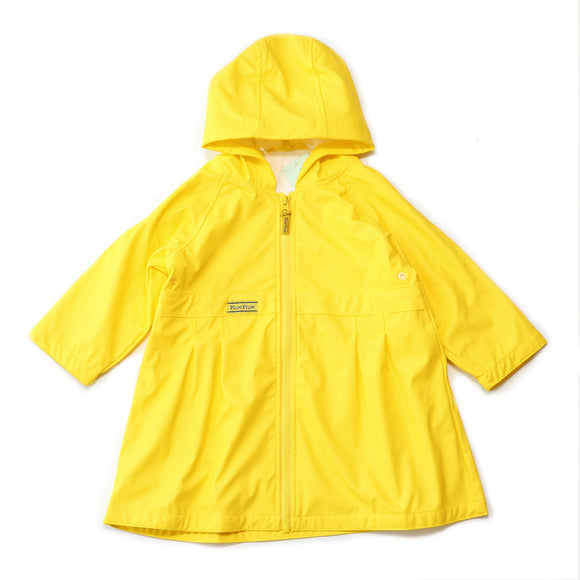 Pluie Pluie Girls Solid Yellow Rain Coat