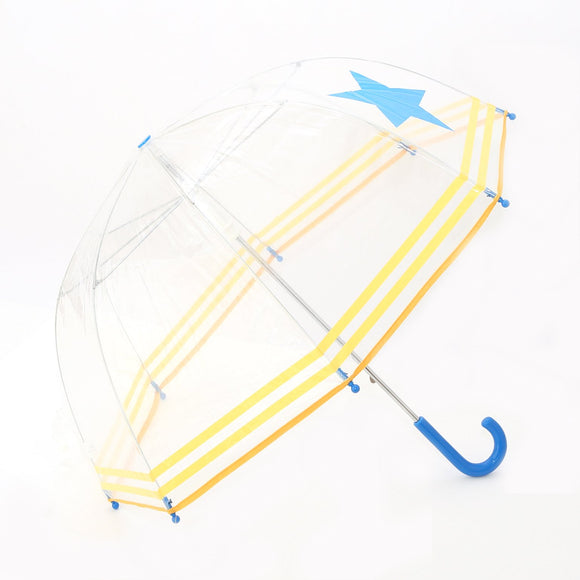 Pluie Pluie Boys Transparent Star and Striped Umbrella - Babychelle.com