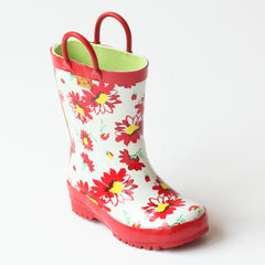Pluie Pluie Girls RB - RF Red Flower Rain Boots