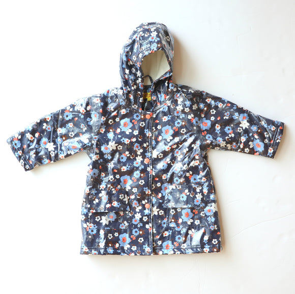 Pluie Pluie Girls RC - Navy Flower Rain Coat