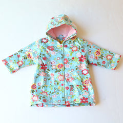 Pluie Pluie Girls RC - Blue Floral Rain Coat