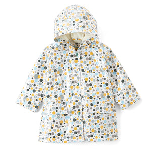 Pluie Pluie Girls Three Tone Multi Dot Rain Coat