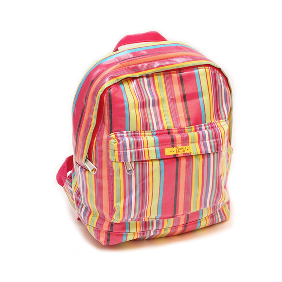 Pluie Pluie Girls Pink Stripe Backpack - Babychelle.com
