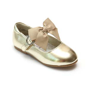 L'Amour Girls Grosgrain Bow Flat
