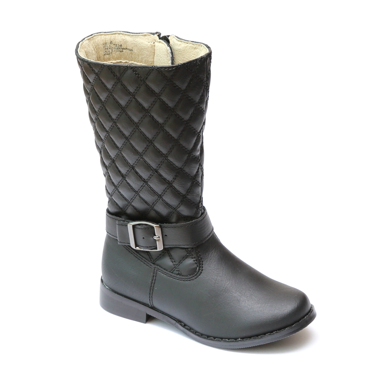 70f72407c34 L'Amour Girls Quilted Buckle Tall Boots – Babychelle