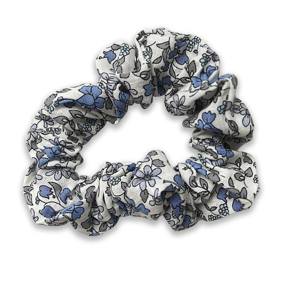 Thea Liberty of London Blue Floral Hair Scrunchie - Babychelle