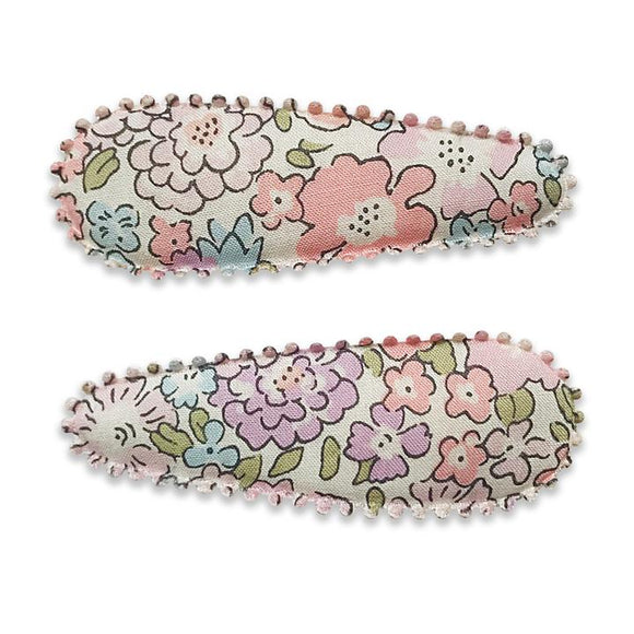 Lillia London of Liberty Fabric Hair Snap Clip - Babychelle.com