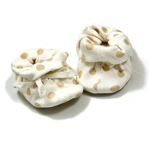 Babymio 100% Organic Cotton Polka Dot Booties