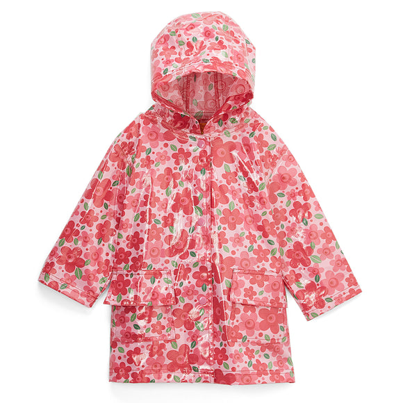 Pluie Pluie Girls RC - Pink Flower Rain Coat