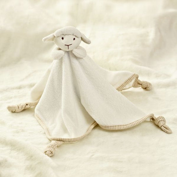 Babymio 100% Organic Cotton Lamb Towel Doll Comforter
