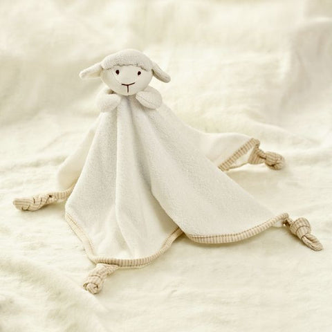 Babymio 100% Organic Cotton Sheep Towel Doll Security Blanket