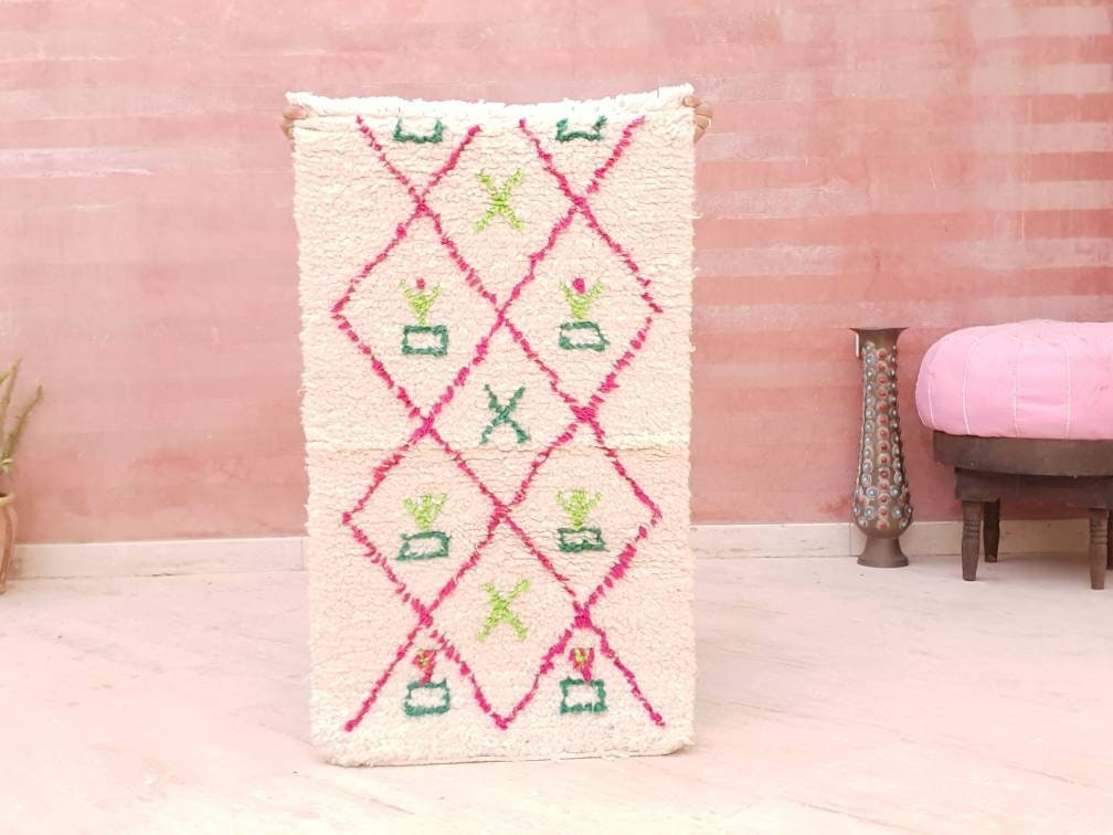 Small Moroccan Rug, cute rug, baby rug, Morrocan rug, bedside rug children room nursery rug bedroom rug living room rug pretty rug boho rug