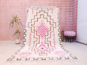 Finest Moroccan rug 5×8 Azilal Rug morrocan rug, Pink Pastels Pattern Authentic High Atlas Rug bedroom rug living room rug nursery rug 5x8