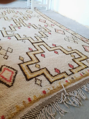Authentic Vintage Moroccan rug, 4x7 Unique Azilal Berber Rug, bedroom rug living room rug  tribal rug, morrocan rug beige rug VAZ45