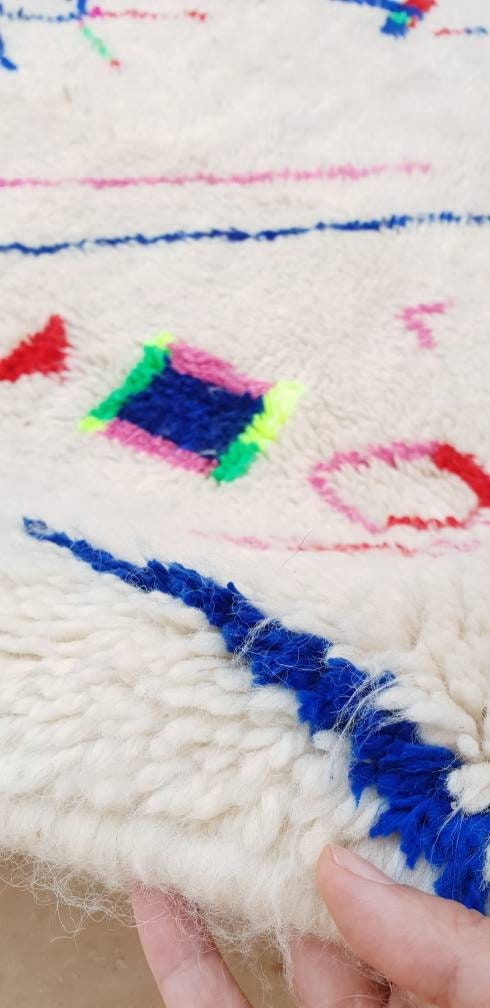 Finest Moroccan Rug, 5x8 Azilal rug, Super soft rug authentic morrocan rug nursery rug bedroom rug colorful rug living room rug berber rug