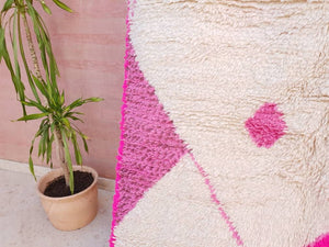 5×8 Moroccan Rug, Super Soft Azilal Rug, Pretty Rug By Myself, nursery rug living room rug Colorful pink Rug bedroom rug beni ourain rug