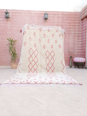 Finest Moroccan rug 5.5x9 berber Azilal rug, bedroom rug Authentic moroccan rug, fluffy wool rug living room rug pink beni ourain nursery