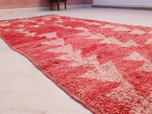 Vintage Moroccan rug, 4x7.5 Gorgeous Blush Red Boujaad rug | UNIQUE Abstract rug | bedroom living room rug boho rug berber rug