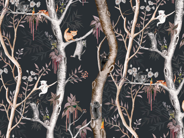 Kitten Coven wallpaper | Astek Home