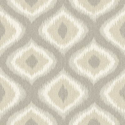 Abra Taupe Ogee Wallpaper Wallpaper