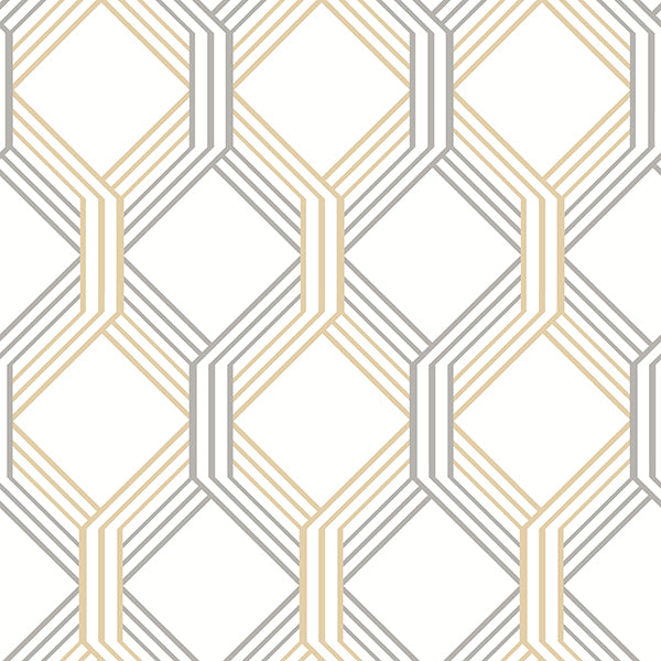 Linkage Gold Trellis Wallpaper Wallpaper