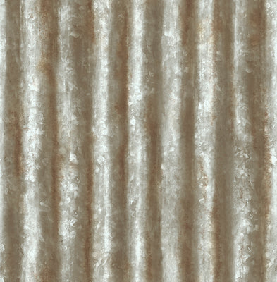 Corrugated Metal Grey Industrial Texture Wallpaper Wallpaper