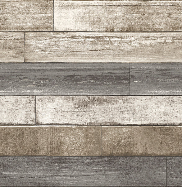 Weathered Plank Grey Wood Texture Wallpaper Wallpaper