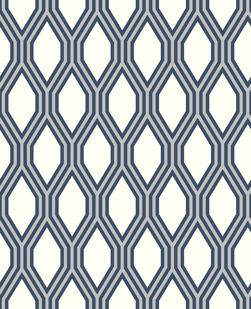 Honeycomb Navy Geometric Wallpaper Wallpaper