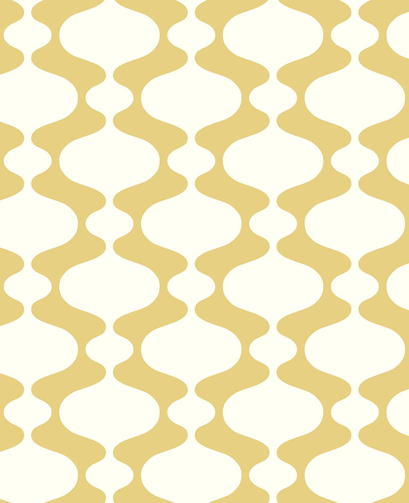Ashbury Yellow Retro Wallpaper Wallpaper