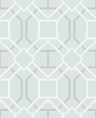 Dauphin Light Blue Lattice Wallpaper Wallpaper