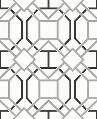 Dauphin Off-White Lattice Wallpaper Wallpaper