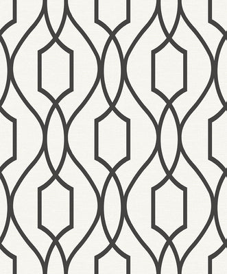 Evelyn Black Trellis Wallpaper Wallpaper