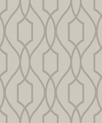 Evelyn Bronze Trellis Wallpaper Wallpaper